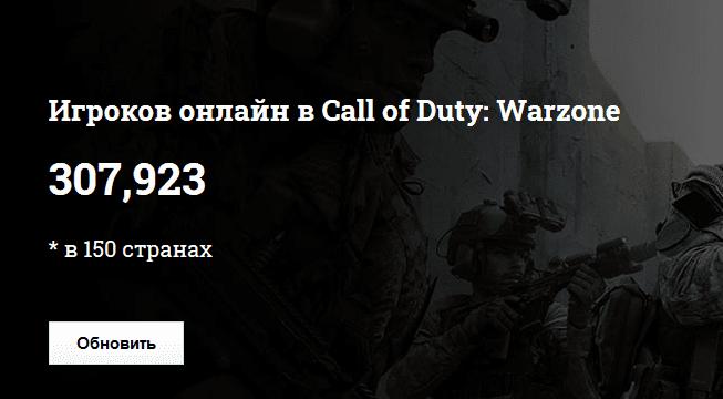 Как узнать онлайн игроков в Call of Duty: Warzone?