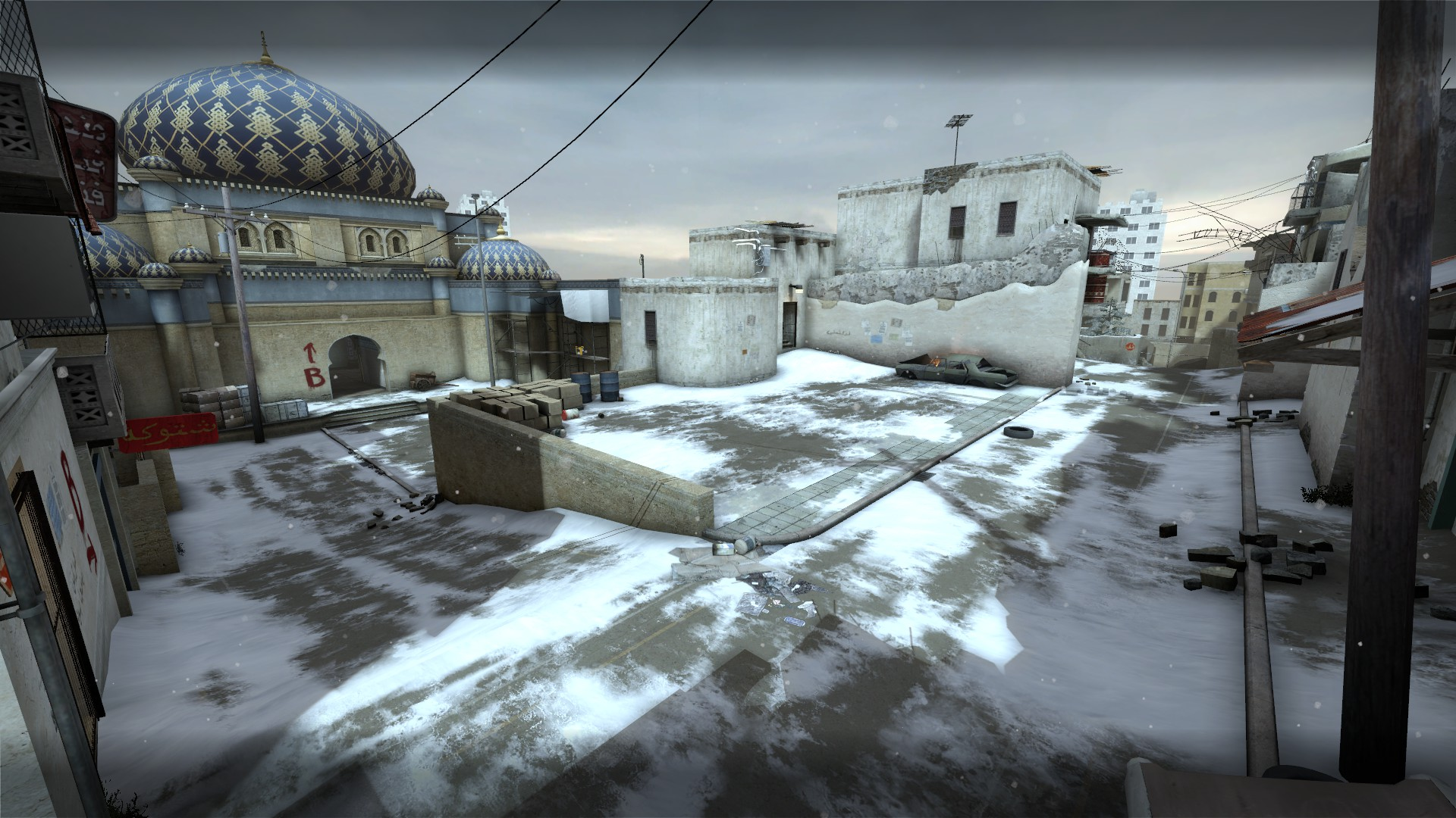 Скриншот карты ксго de_dust2_winter #5