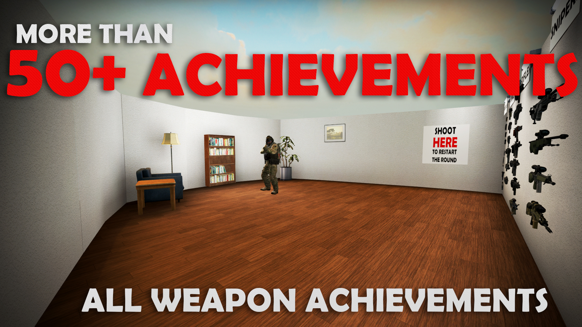 Скриншот карты кс го All Weapon Achievements 50+ Achievement Map - Master at Arms Quick and Easy #2