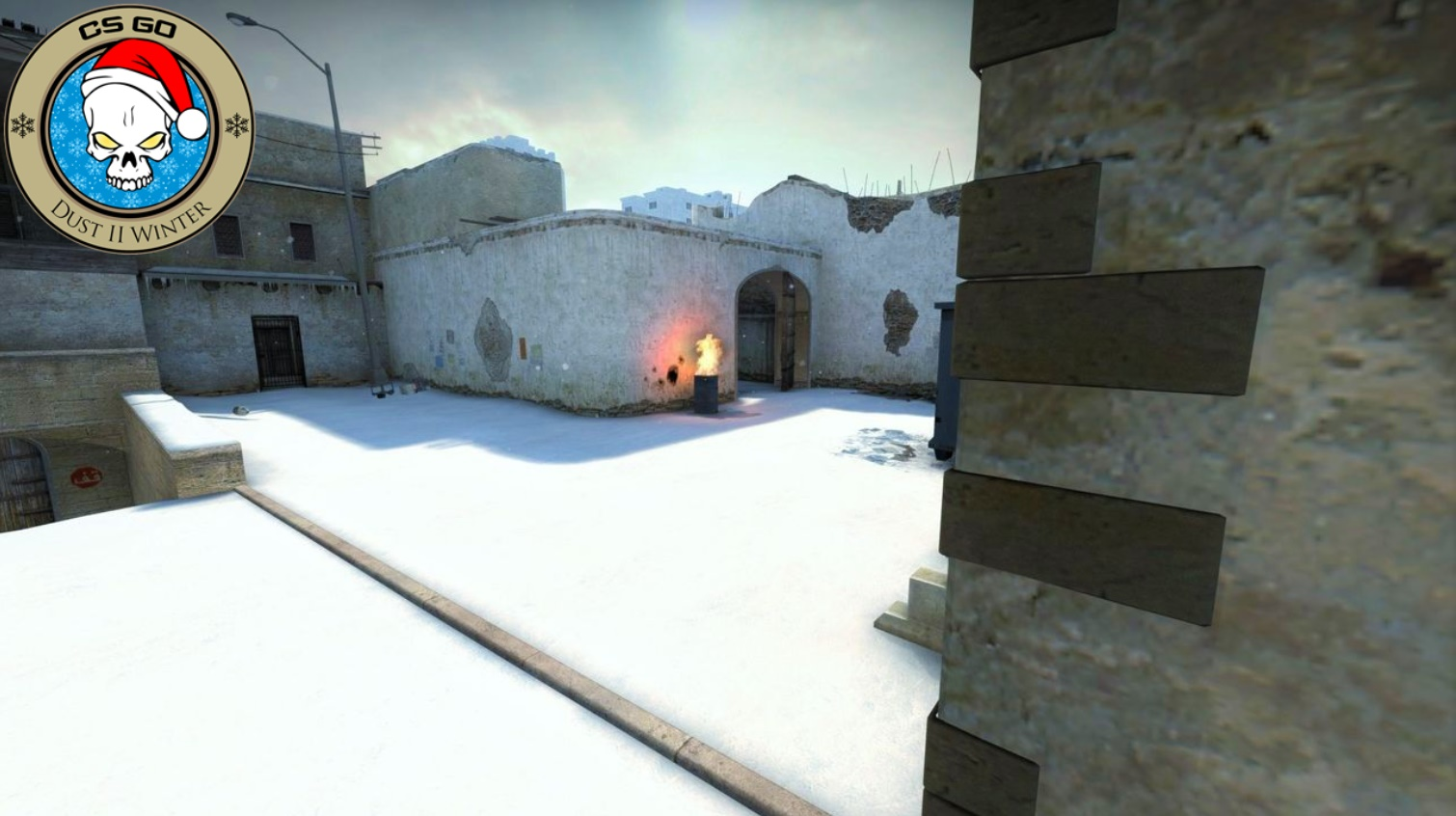 Скриншот карты ксго Dust2 Winter [Day Version] #6