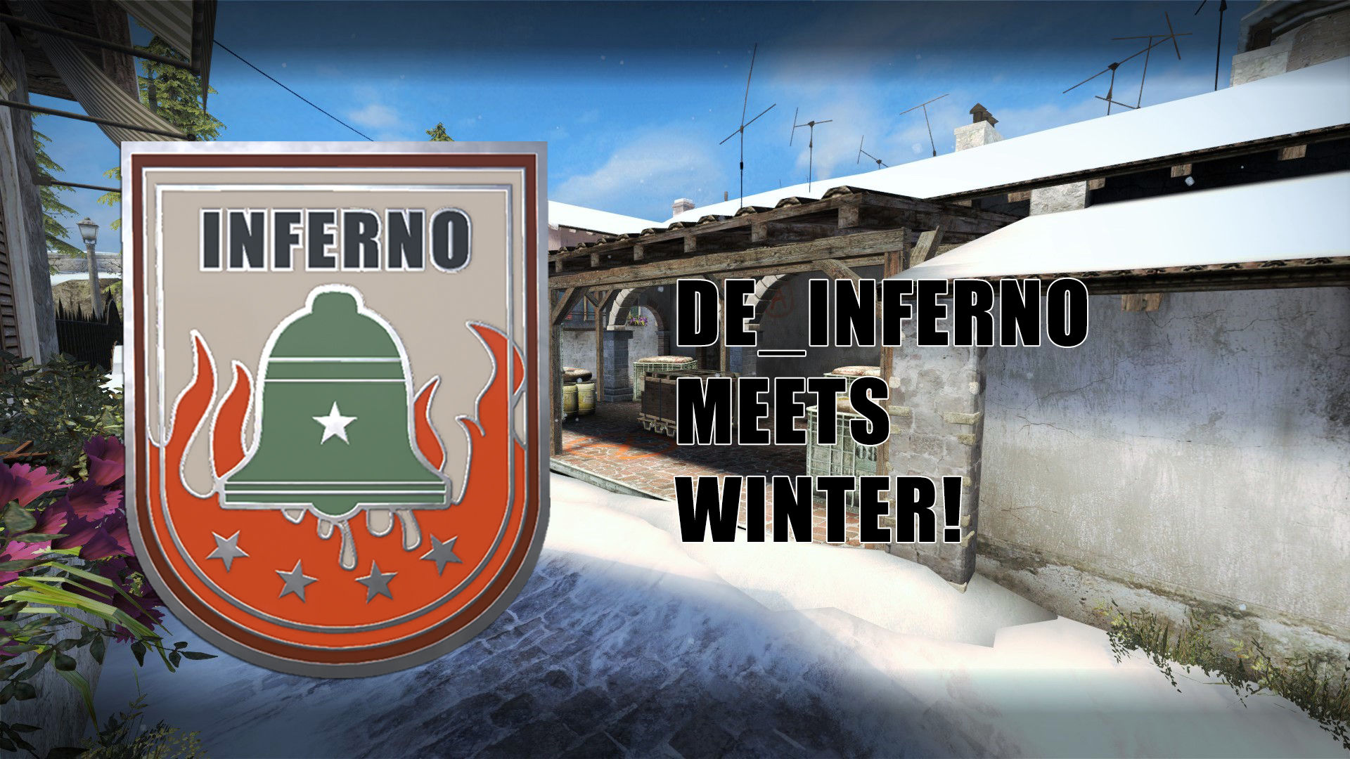 Скриншот карты ксго Inferno Winter [Day Version] #1