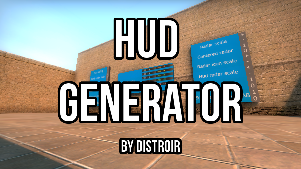 Скриншот карты ксго Hud generator by Distroir #1